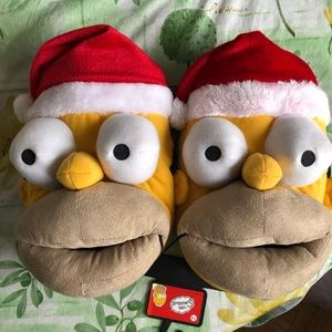 Other - Homer Santa slippers
